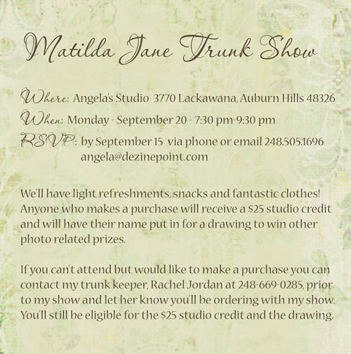 Matilda Jane Trunk Show – Michigan Children Photographer