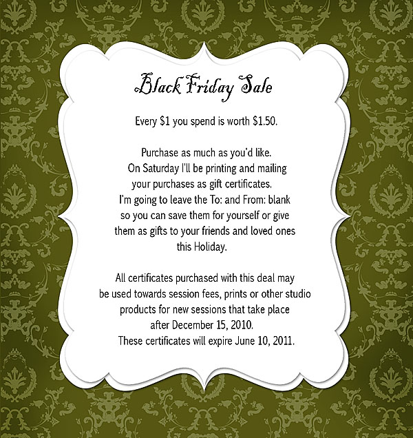 Black Friday Deal – Oakland County Photographer