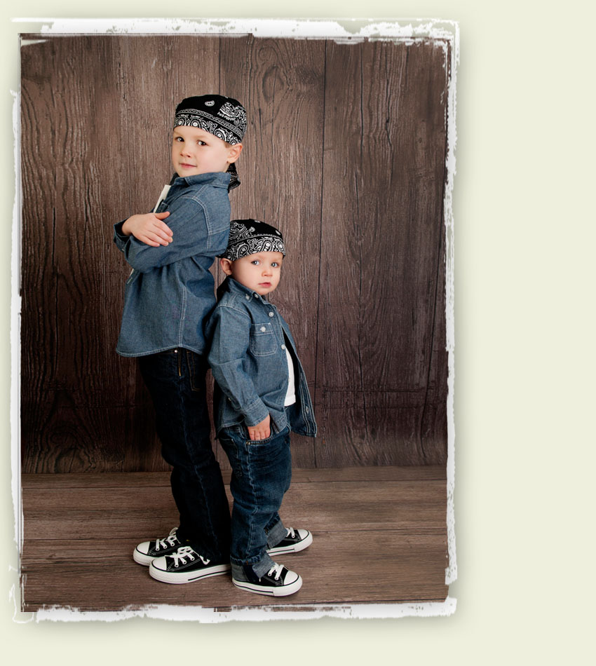 Two little bandana dudes! – Detroit Children Photographer