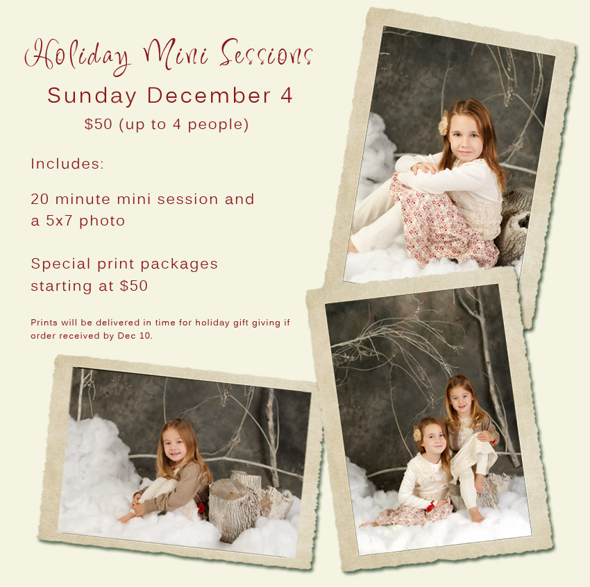 Holiday Mini Sessions – Michigan Photographer