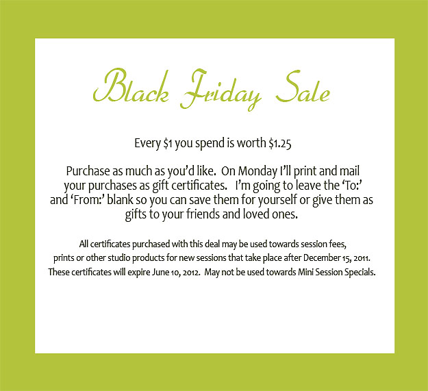 Black friday early sale michigan baby photography for Conventry com
