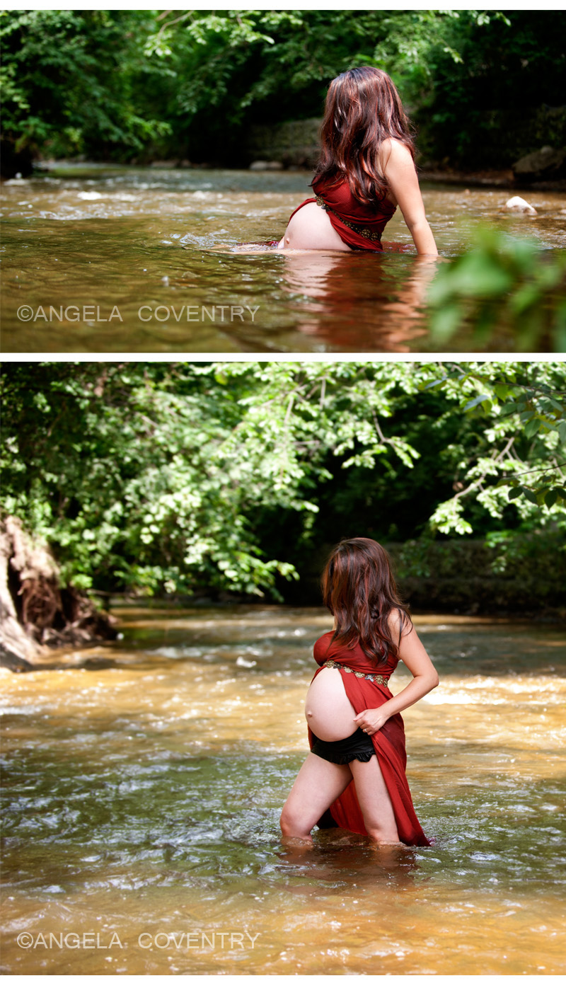 Rochester maternity photography in the river with mrs for Conventry com