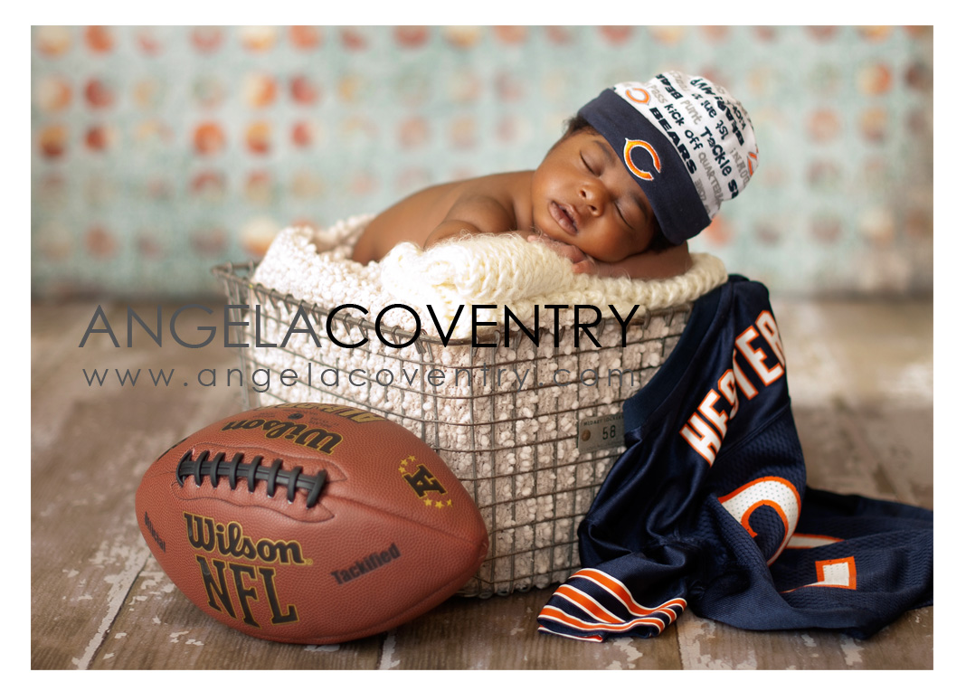 Rochester Hills Newborn Photography – Newborn Football Fan