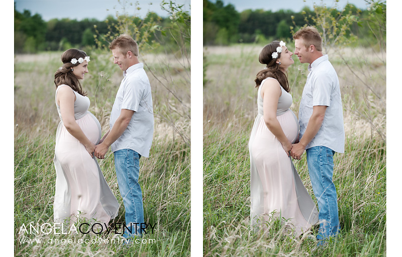 maternity photo with dad