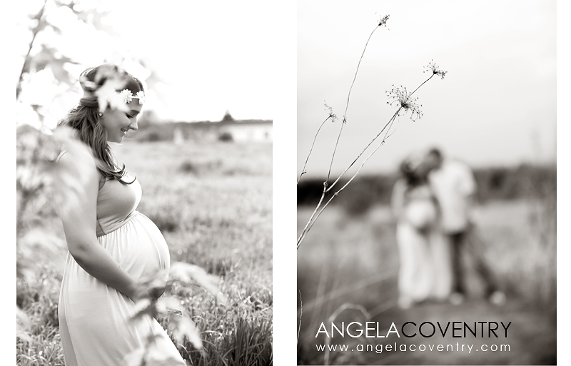 Black and white lifestyle maternity photos Lake Orion