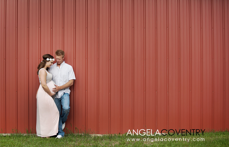 Lake orion red barn maternity photography