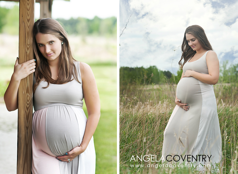 rustic outdoor maternity photographer lake orion michigan
