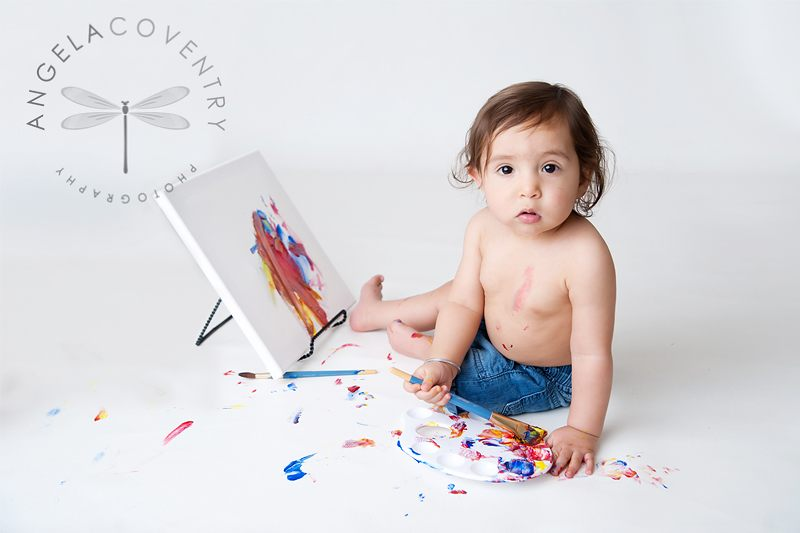 One year old Artist Photo Session