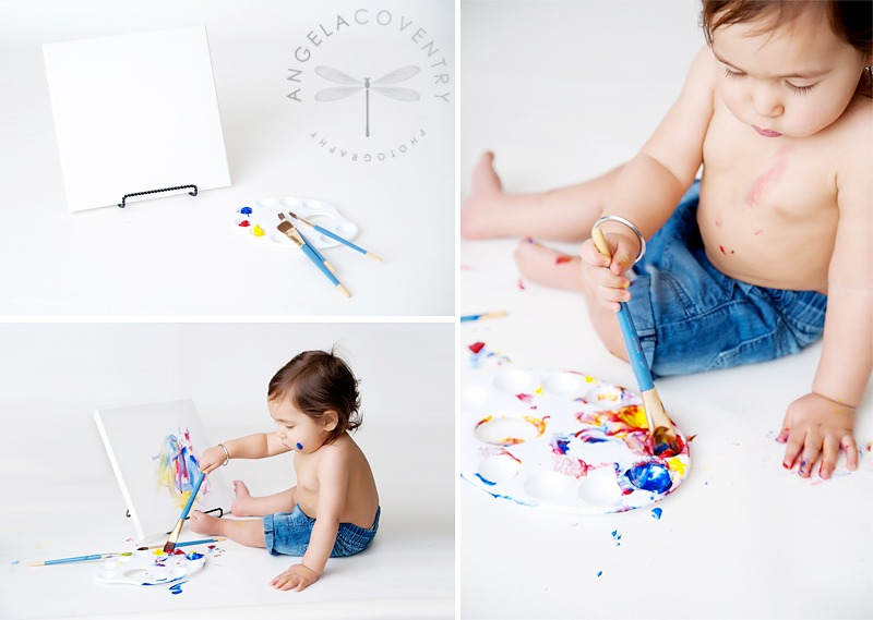 One year old photo session, the Artist